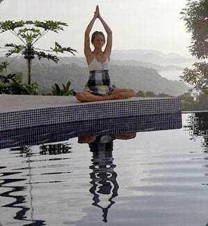 Costa Rica Yoga Retreat - reflection in pool