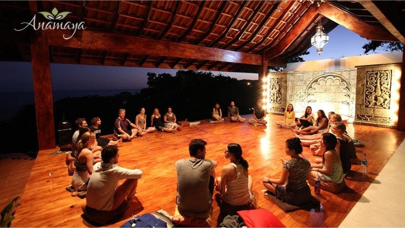 Yoga Deck at Dusk at Anamaya Resort