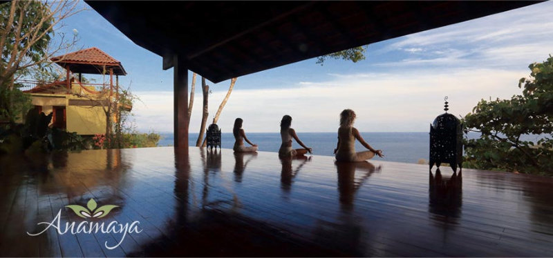 Serenity and Tranquility On the Anamaya Yoga Deck