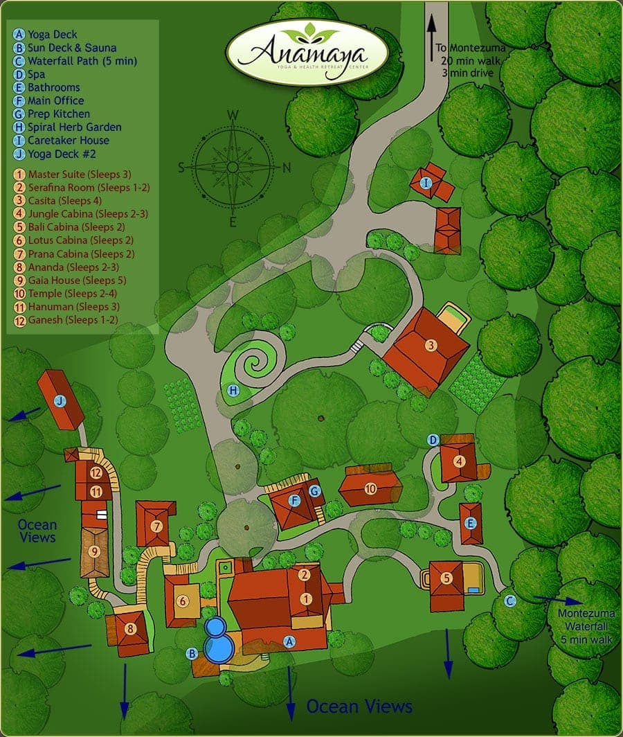 Anamaya Yoga Retreat Map