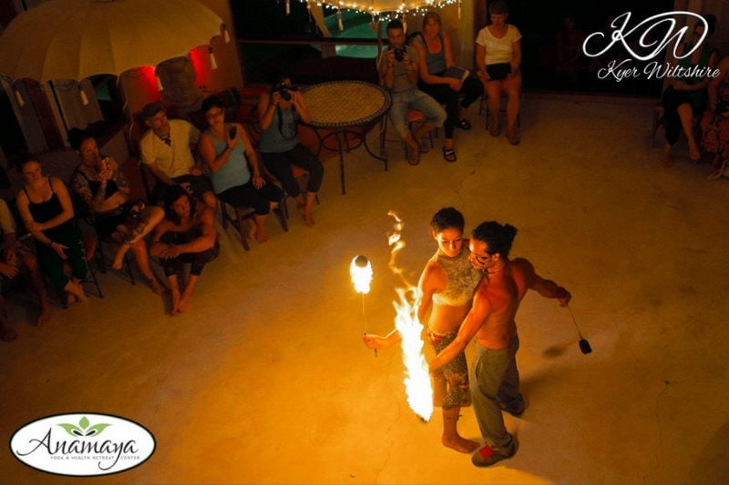 Firedancing Display at Anamaya Resort