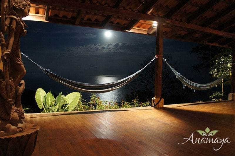 Shimmering Moonlight Over The Ocean from The Anamaya Yoga Deck