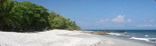 The beach in Montezuma, just north of town.