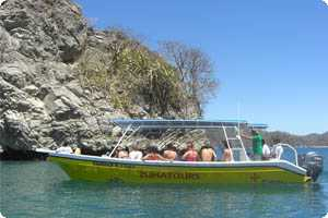 Tortuga Island tour boat