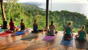 Morning meditation for Anamaya's yoga teacher training