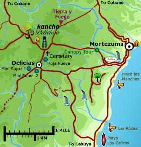 Map to Rancho Delicioso