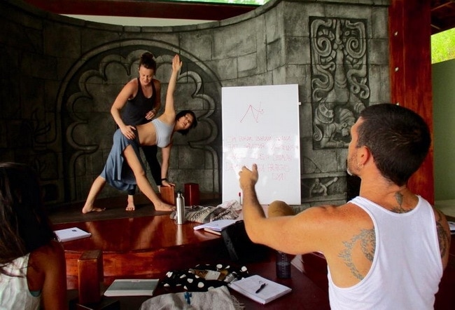 banyan yoga adjustments class
