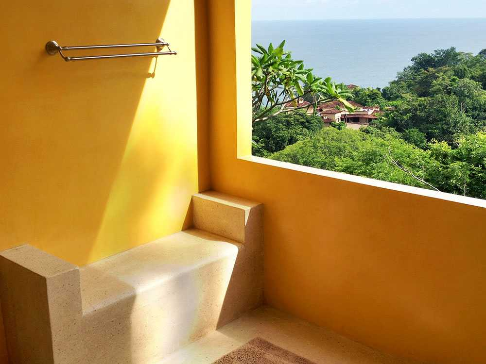 Beautiful bathroom with an amazing view. This is one of our favorites at Anamaya.