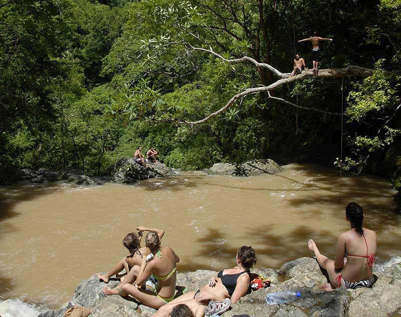 Muddy waters at Montezuma Falls