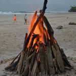 playa hermosa bonfire