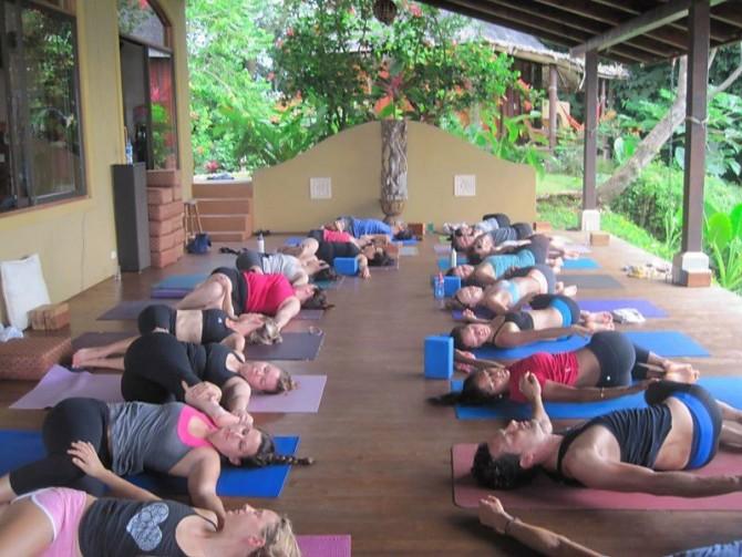 yoga class at anamaya