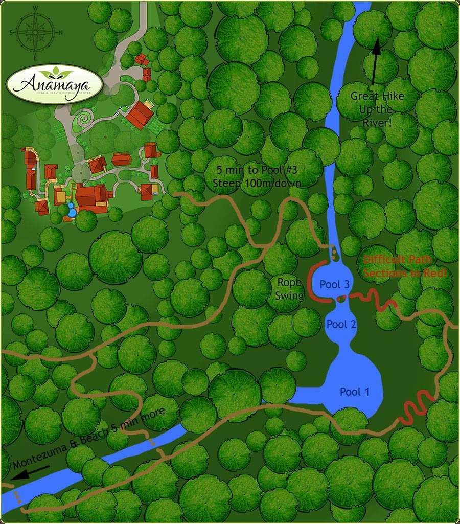 Montezuma Falls Map