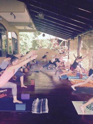 cristiane yoga class at Anamaya