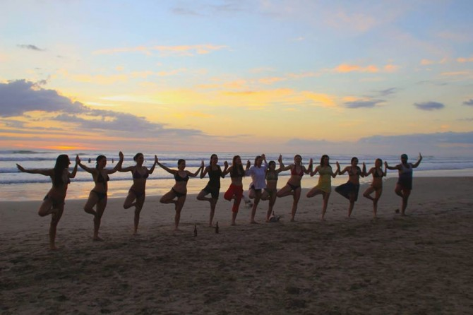Anamaya Yoga Retreat Group on the Beach