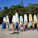 Surfers and their Boards