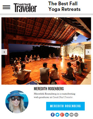 Conde Naste Yoga Retreats List