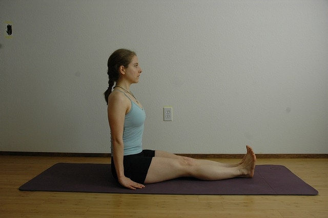 Staff Pose (Dandasana) via flckr https://www.flickr.com/photos/tarnalberry/2346428393/