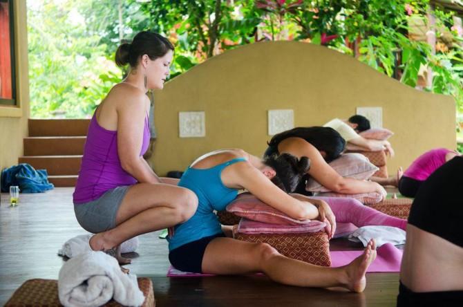 restorative yoga at Anamaya