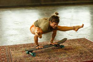 shaney on skateboard