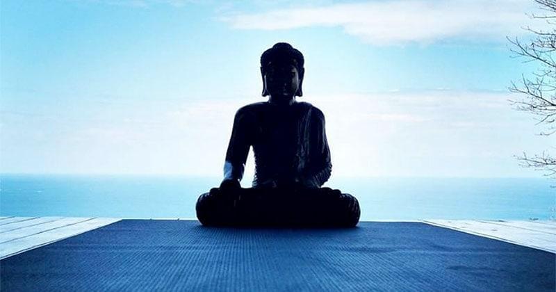 Buddha on Yoga Deck