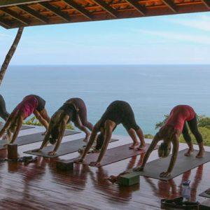 Downward Dog - on the lower yoga deck