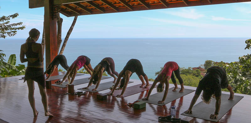 Downward Dog - on the lower yoga deck